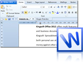 Word processor kingsoft Writer 2013 interface